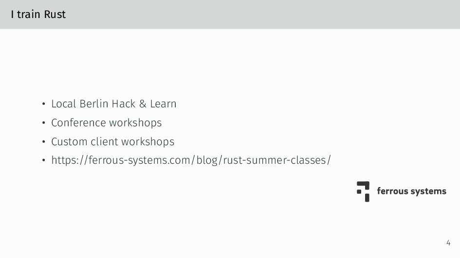 I train Rust • Local Berlin Hack & Learn • Conf...