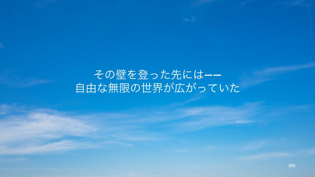 ͦͷนΛొͬͨઌʹ—— ࣗ༝ͳແݶͷੈք͕͕͍ͬͯͨ 103