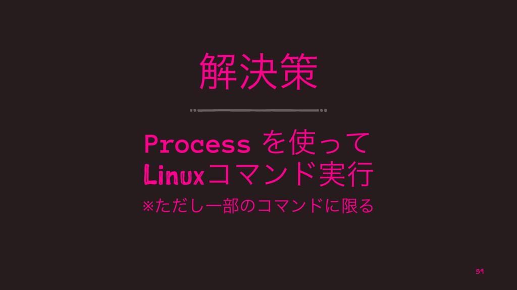 ղܾࡦ Process Λͬͯ LinuxίϚϯυ࣮ߦ ※ͨͩ͠Ұ෦ͷίϚϯυʹݶΔ 59