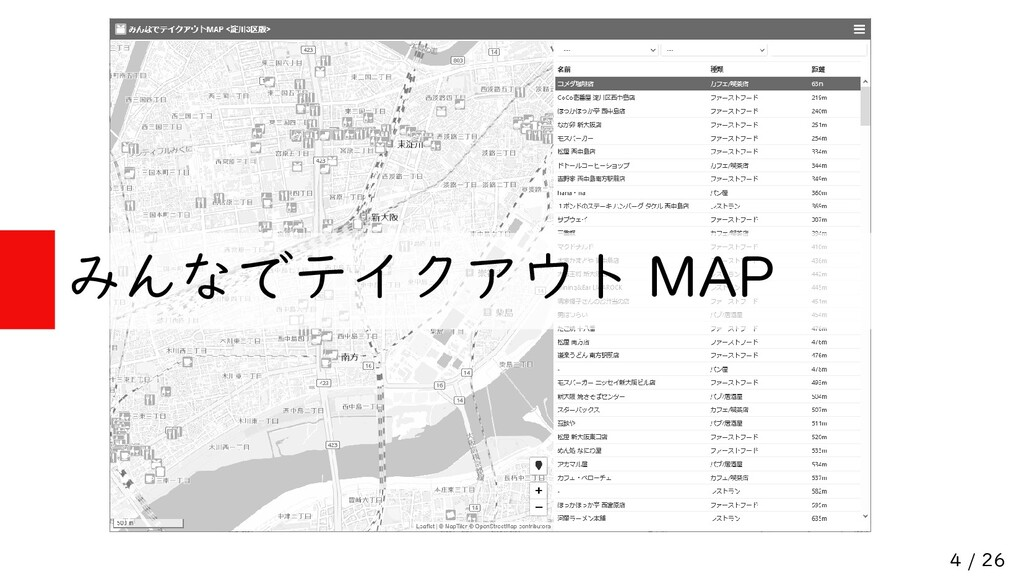 4 / 26 みんなでテイクアウト MAP