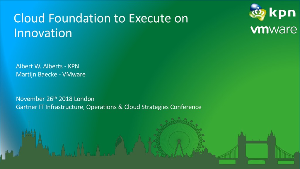 Cloud Foundation to Execute on Innovation Alber...