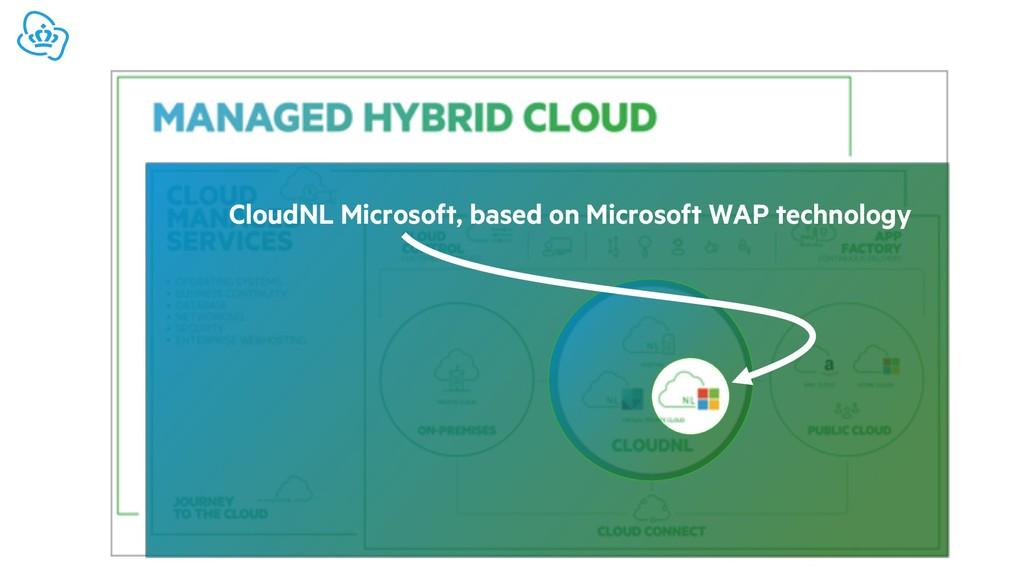 CloudNL Microsoft, based on Microsoft WAP techn...