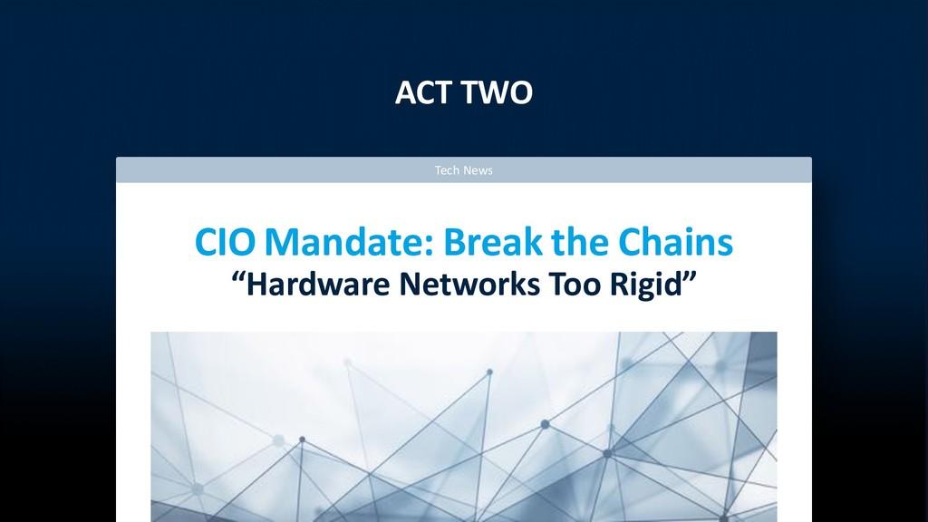 "ACT TWO CIO Mandate: Break the Chains ""Hardware..."