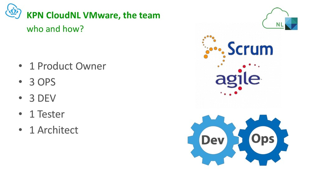 KPN CloudNL VMware, the team • 1 Product Owner ...