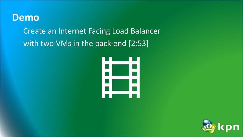 Demo Create an Internet Facing Load Balancer wi...