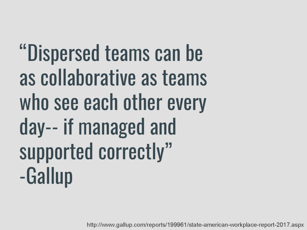 """Dispersed teams can be as collaborative as tea..."