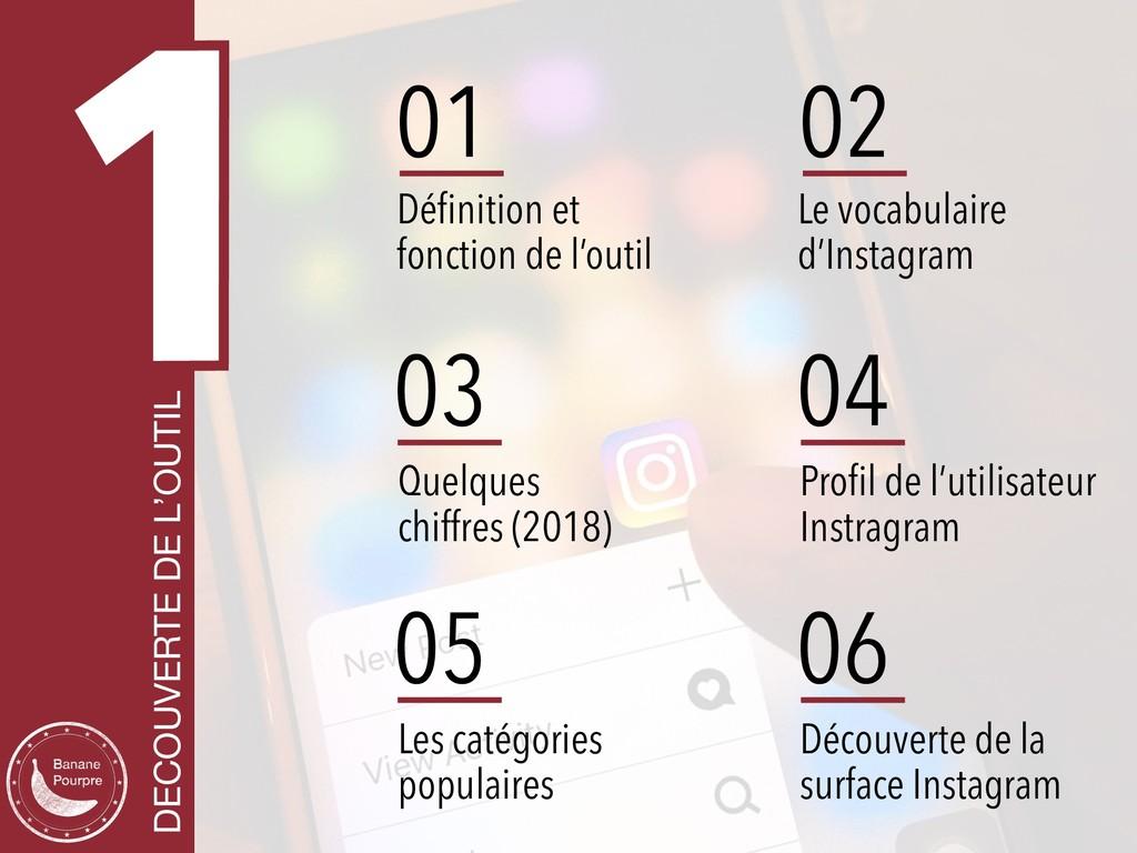 1 DECOUVERTE DE L'OUTIL 01 Définition et fonctio...