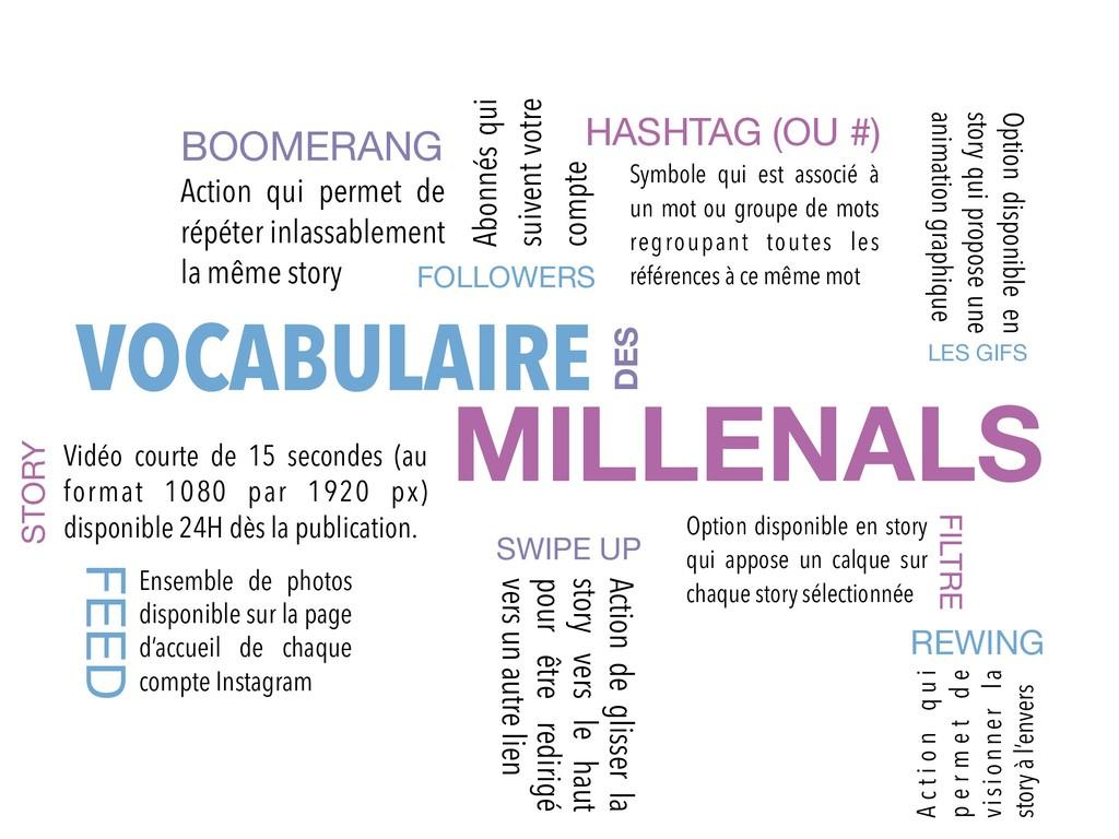VOCABULAIRE DES MILLENALS FOLLOWERS Abonnés qui...
