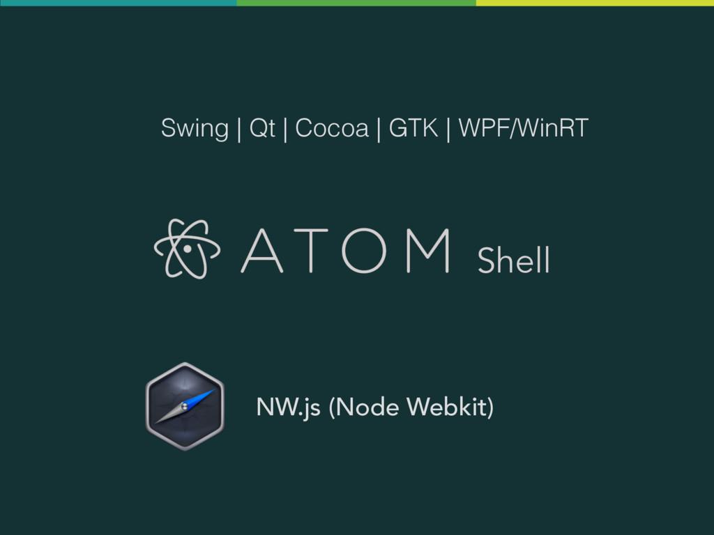 Shell NW.js (Node Webkit) Swing   Qt   Cocoa   ...