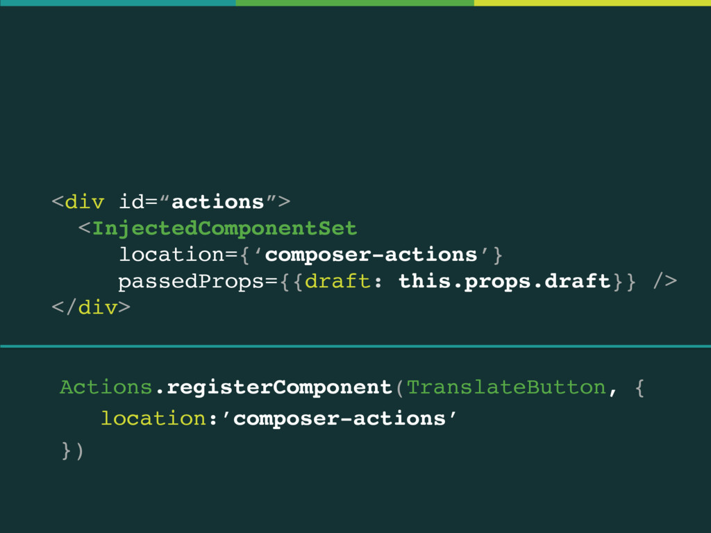 "<div id=""actions""> <InjectedComponentSet locat..."