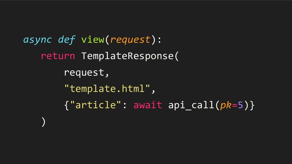 async def view(request): return TemplateRespons...