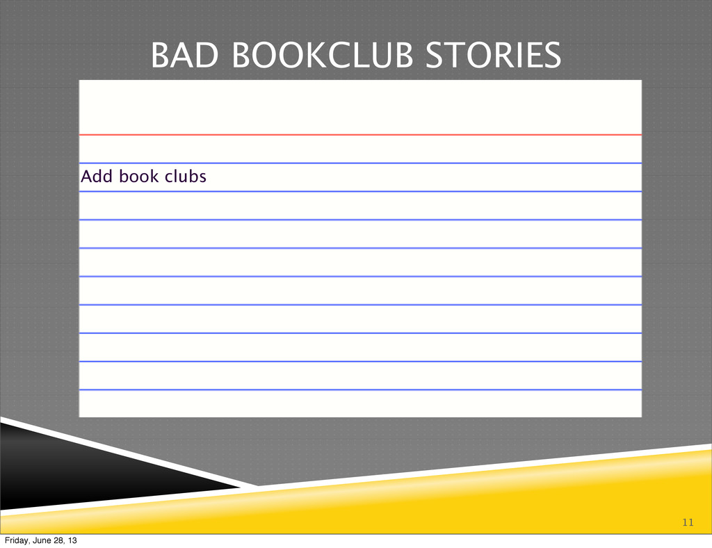 11 BAD BOOKCLUB STORIES Add book clubs Friday, ...