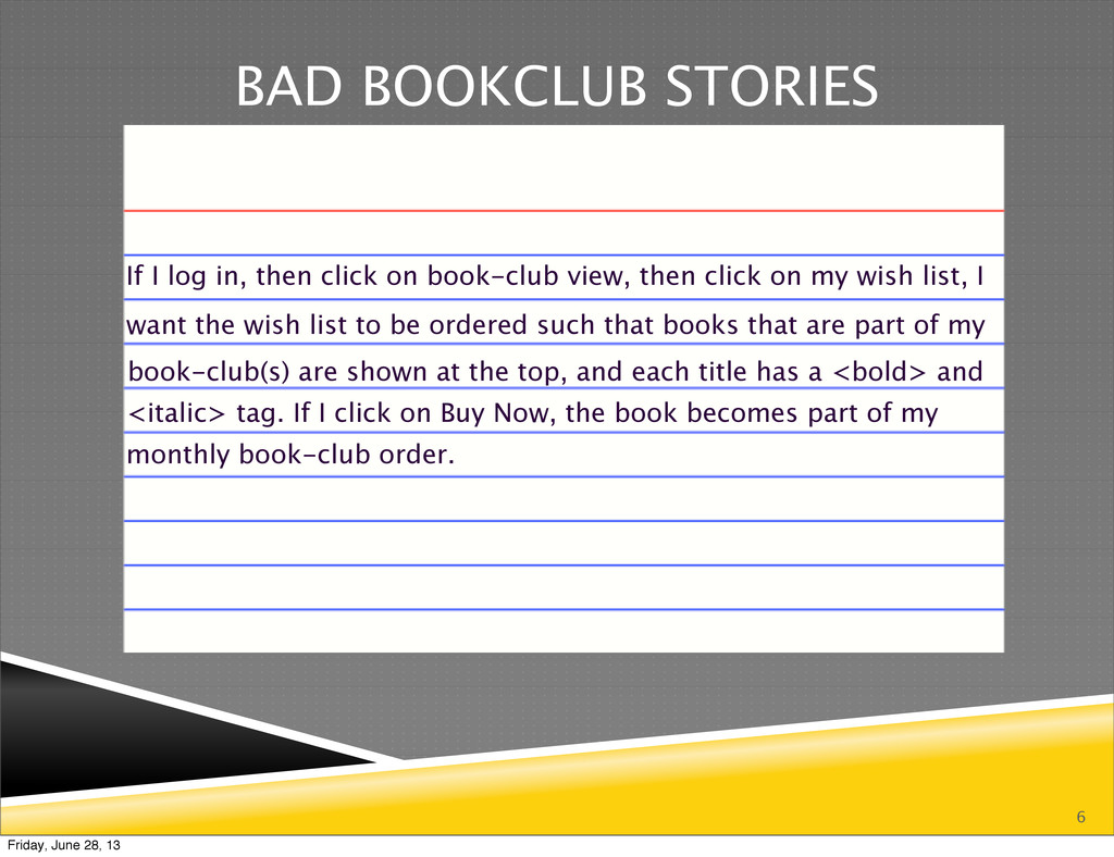 6 BAD BOOKCLUB STORIES monthly book-club order....