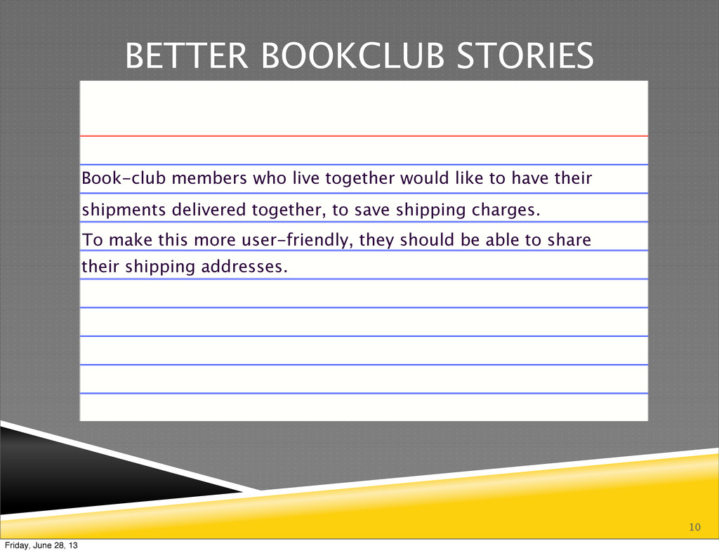 10 BETTER BOOKCLUB STORIES Book-club members wh...