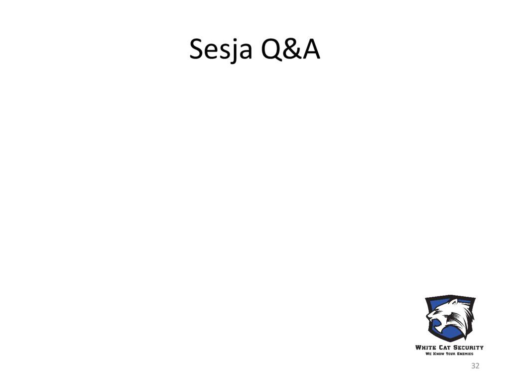 Sesja Q&A 32