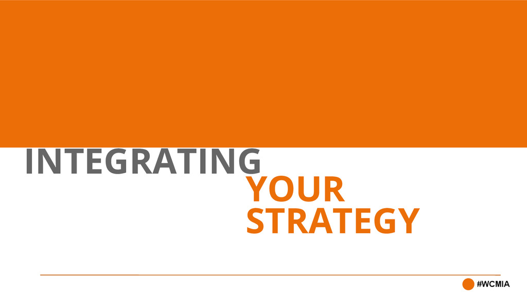 INTEGRATING #WCMIA YOUR STRATEGY