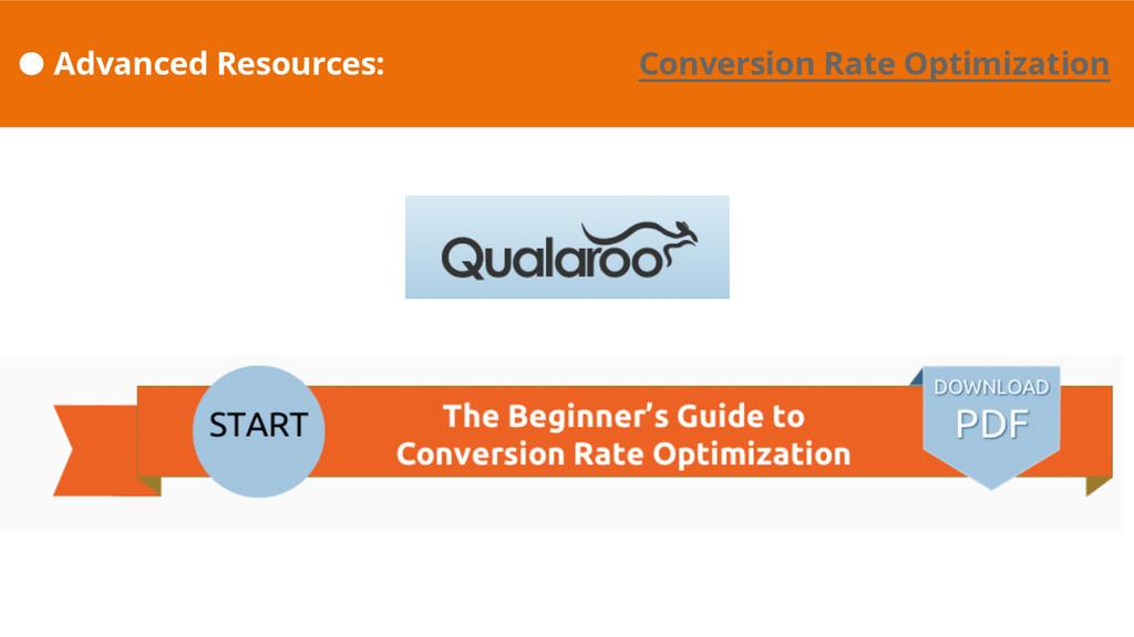 Advanced Resources: Conversion Rate Optimization