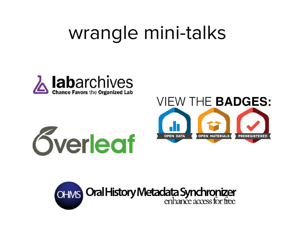 wrangle mini-talks