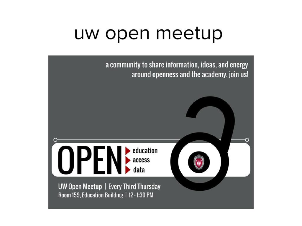 uw open meetup