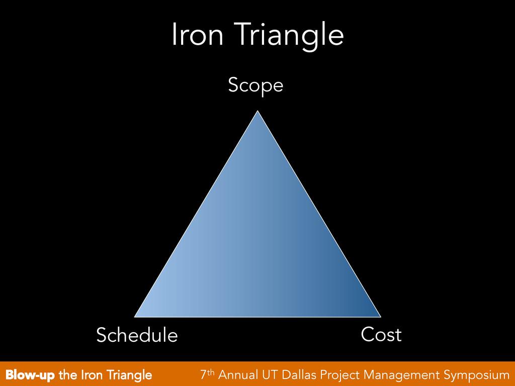Blow-up the Iron Triangle 7th Annual UT Dallas ...