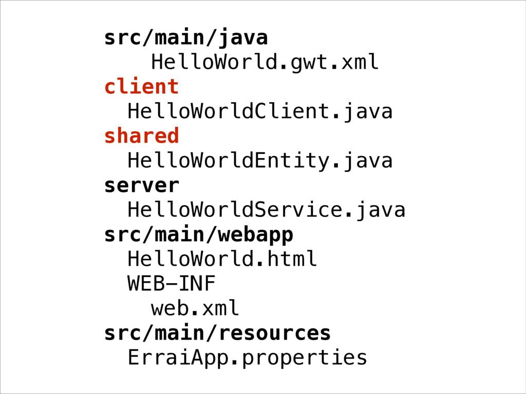 src/main/java HelloWorld.gwt.xml client HelloWo...