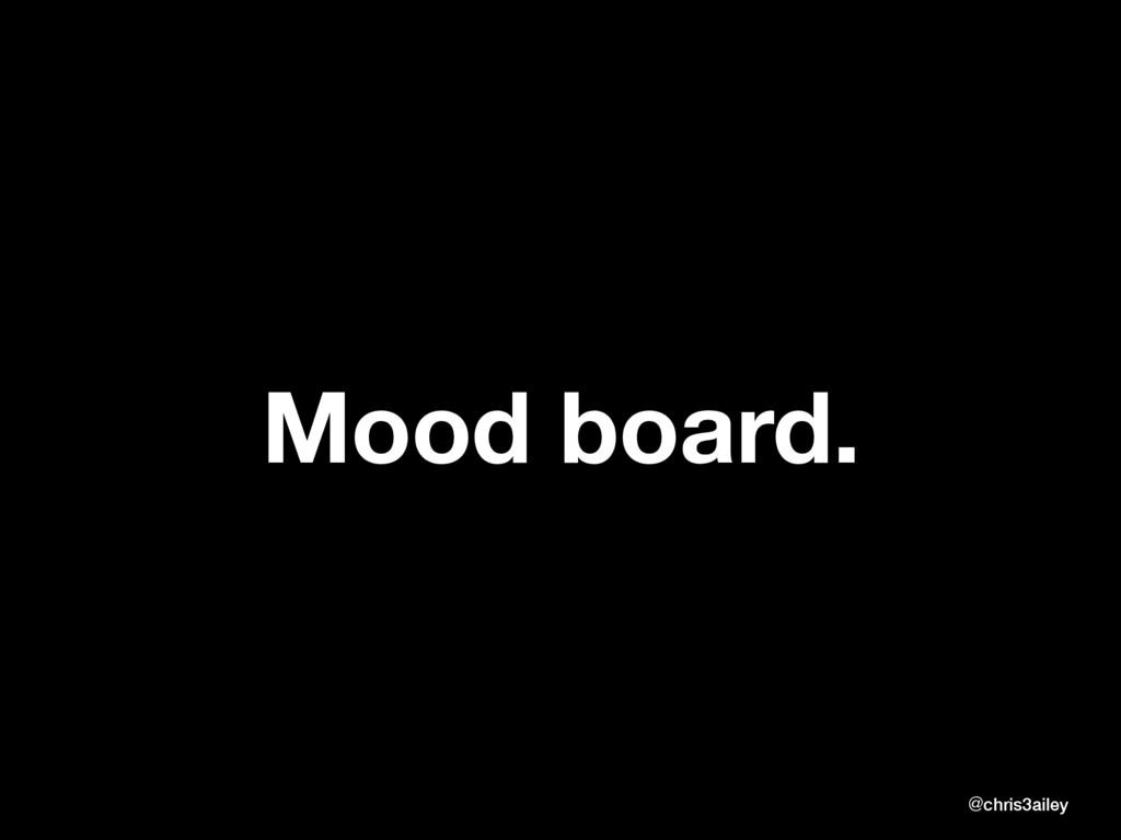 Mood board. @chris3ailey @chris3ailey