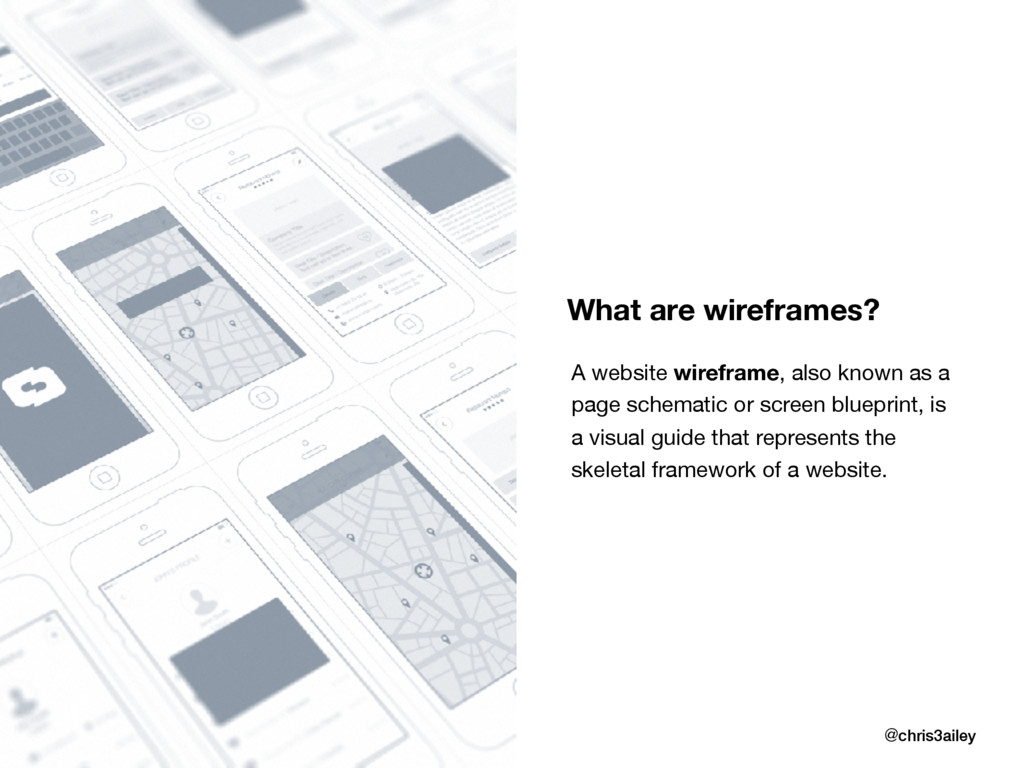 What are wireframes? @chris3ailey A website wir...