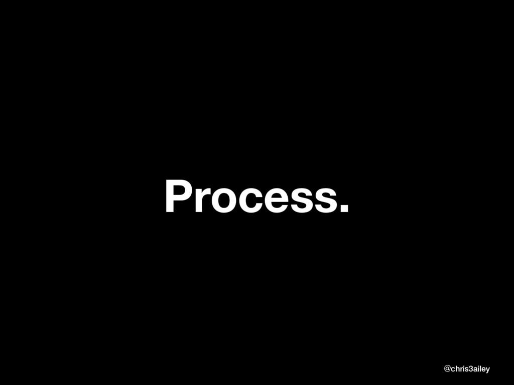 Process. @chris3ailey @chris3ailey