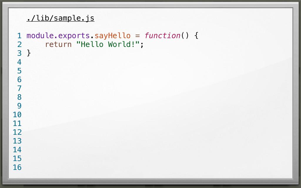 ./lib/sample.js module.exports.sayHello = funct...