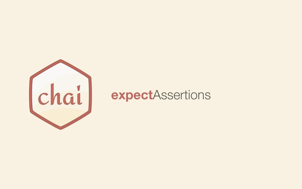 expectAssertions