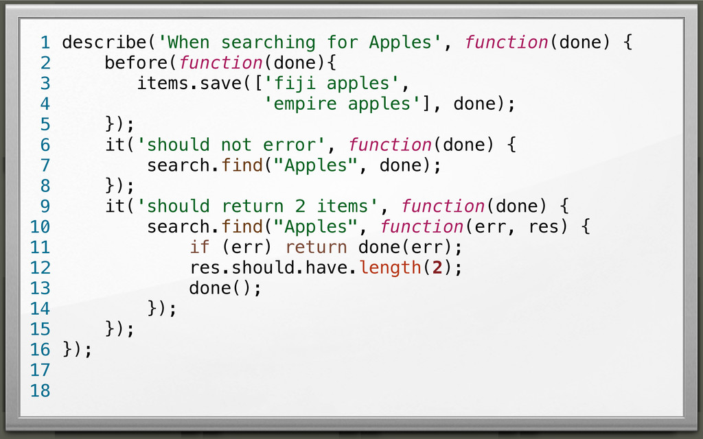 describe('When searching for Apples', function(...