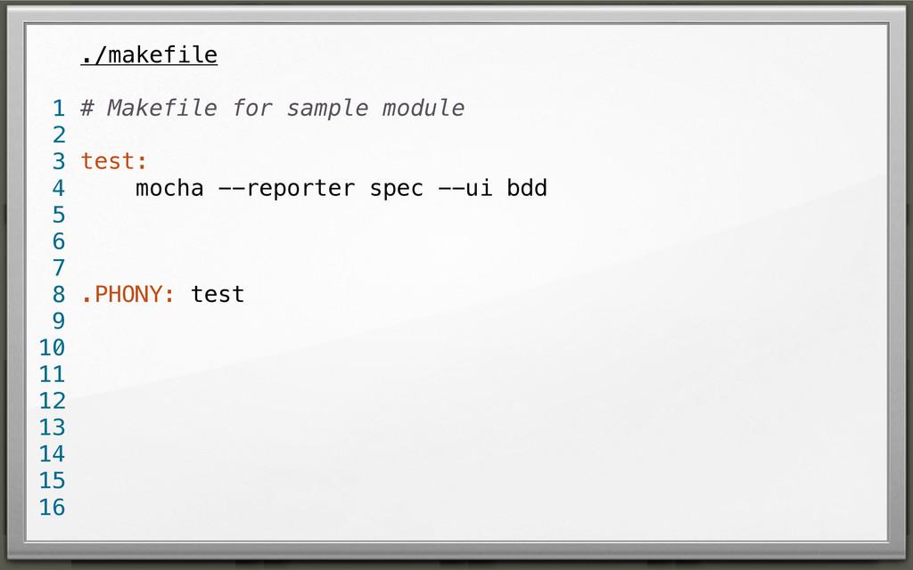 ./makefile # Makefile for sample module test: m...