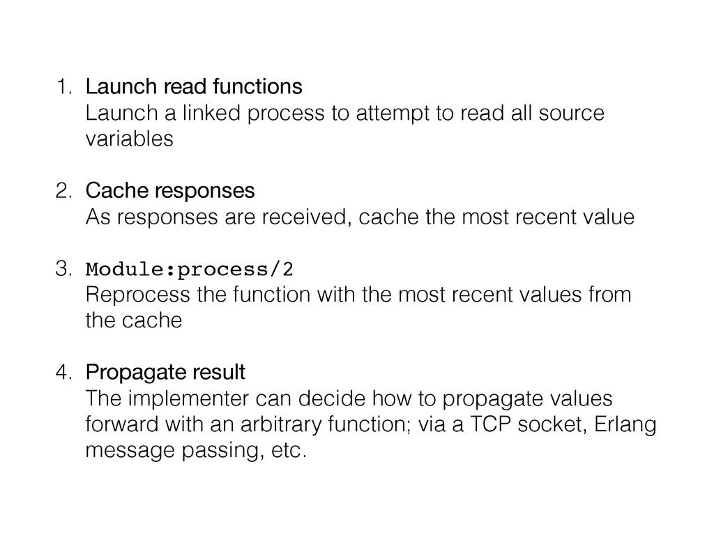 1. Launch read functions Launch a linked proce...