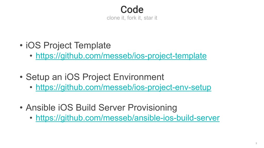 Code clone it, fork it, star it 3 • iOS Project...