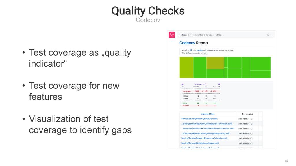 """Quality Checks Codecov 22 • Test coverage as """"q..."""