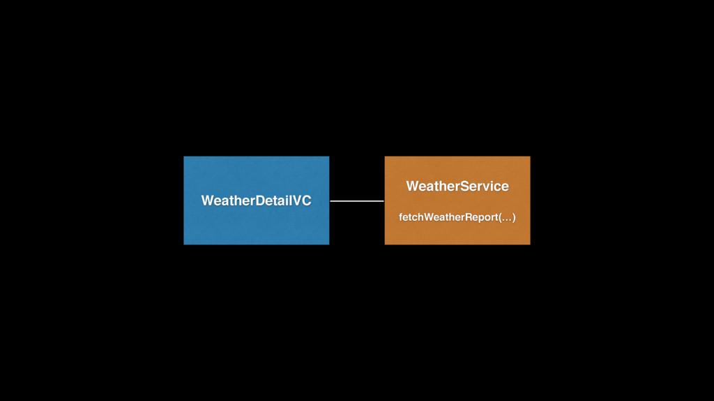 WeatherDetailVC WeatherService  fetchWeatherR...