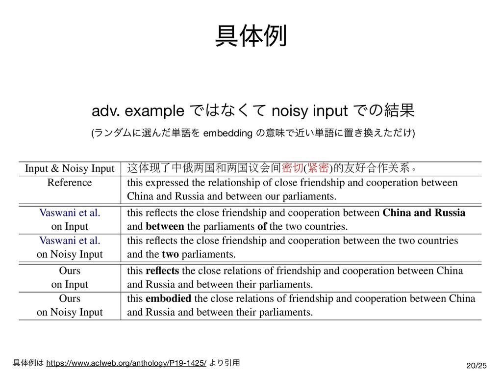 ۩ମྫ adv. example Ͱͳͯ͘ noisy input Ͱͷ݁Ռ (ϥϯμϜʹ...