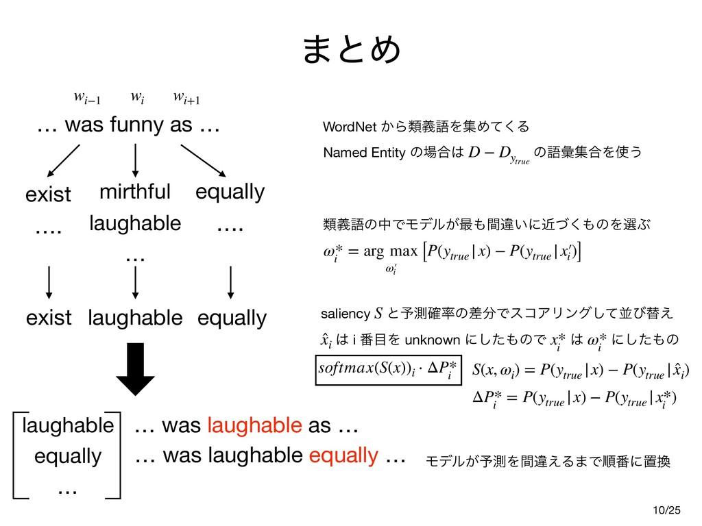 ·ͱΊ 10 … was funny as … wi−1 wi wi+1 mirthful  ...