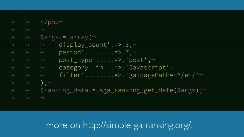 more on http://simple-ga-ranking.org/.