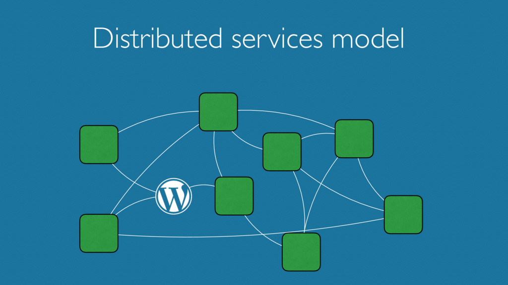 Distributed services model