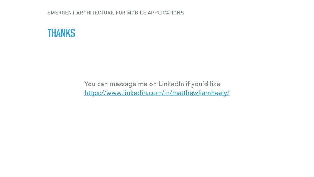EMERGENT ARCHITECTURE FOR MOBILE APPLICATIONS T...