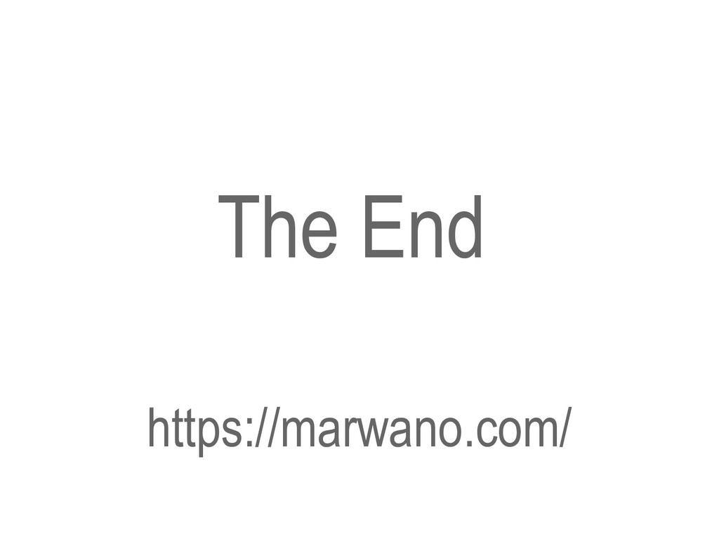 The End https://marwano.com/