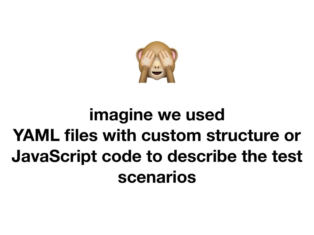imagine we used YAML files with custom structur...