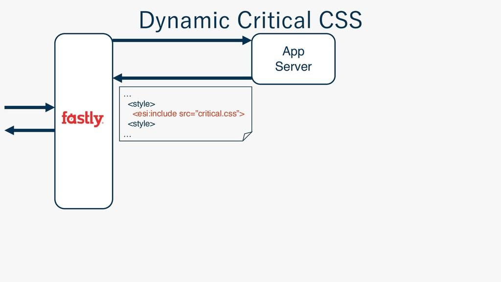 "App Server … <style> <esi:include src=""critical..."