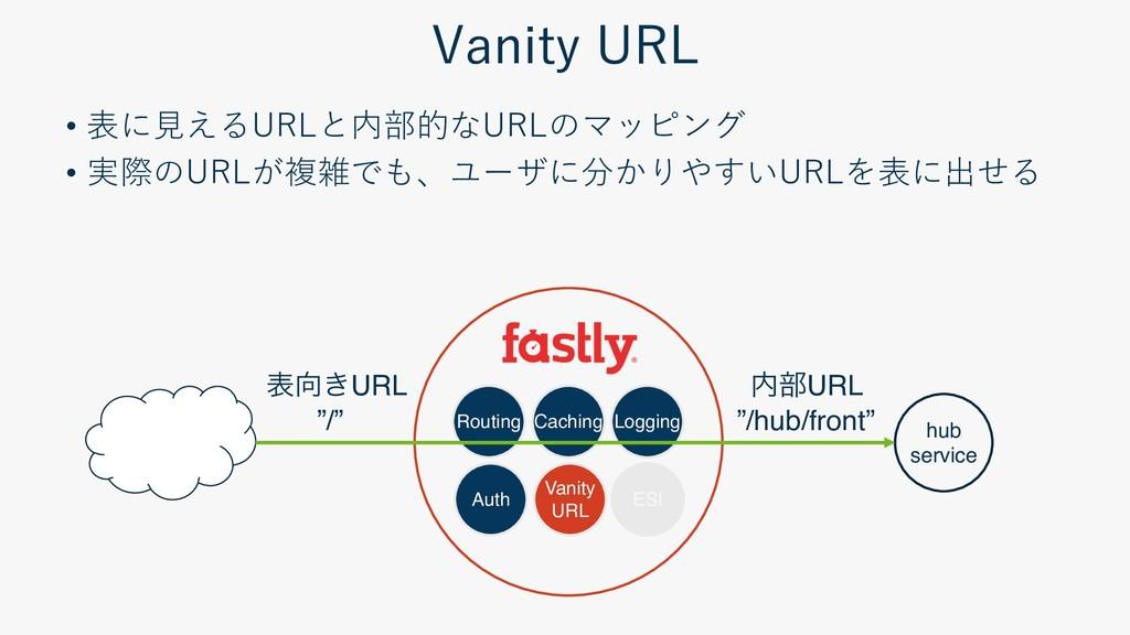 Routing Caching Logging Auth Vanity URL ESI hub...