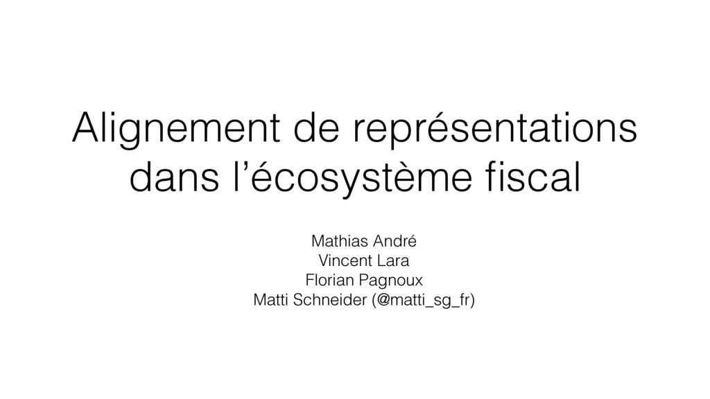Alignement de représentations dans l'écosystème...