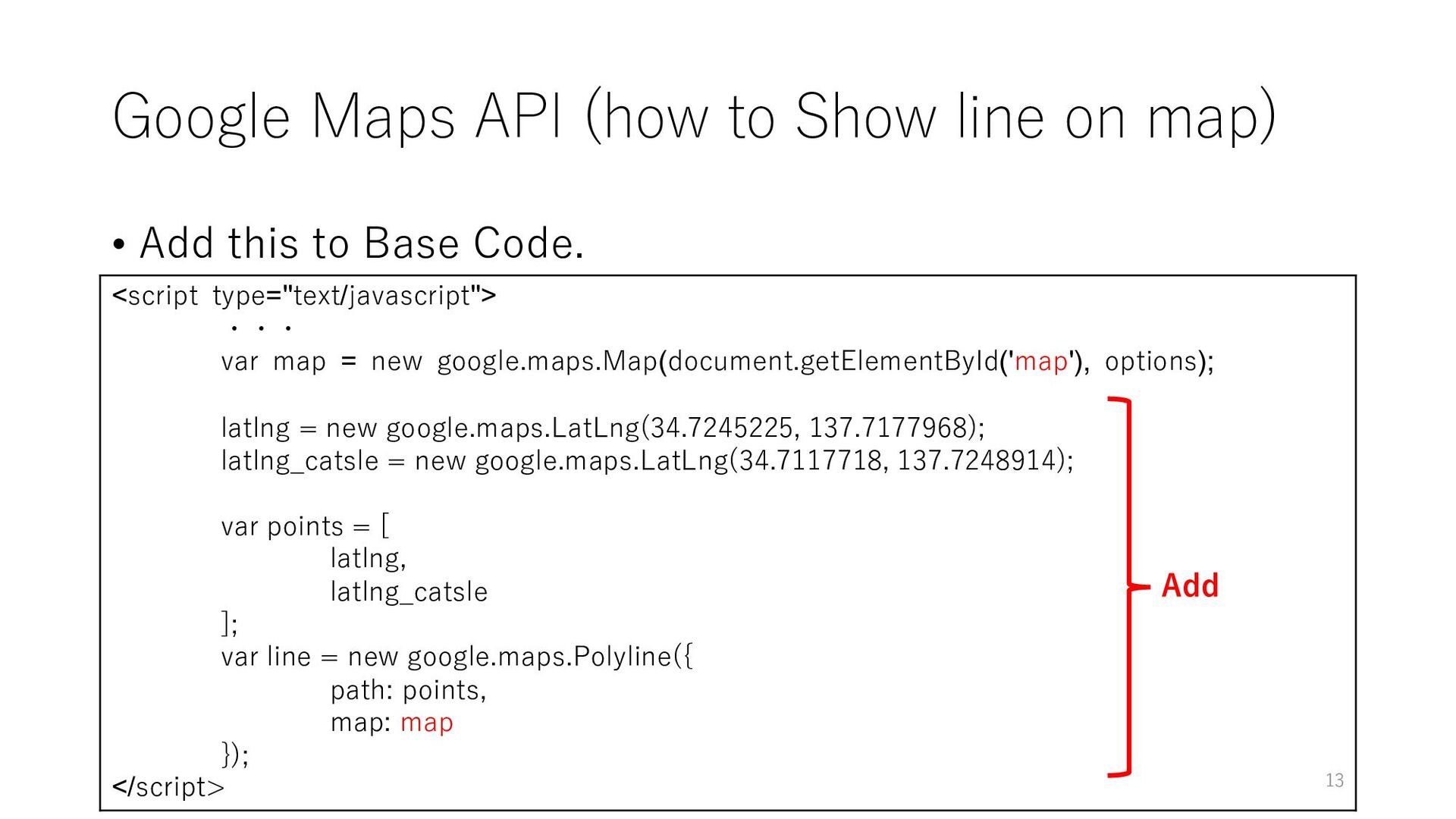 Google Maps API (how to Show line on map) • Add...