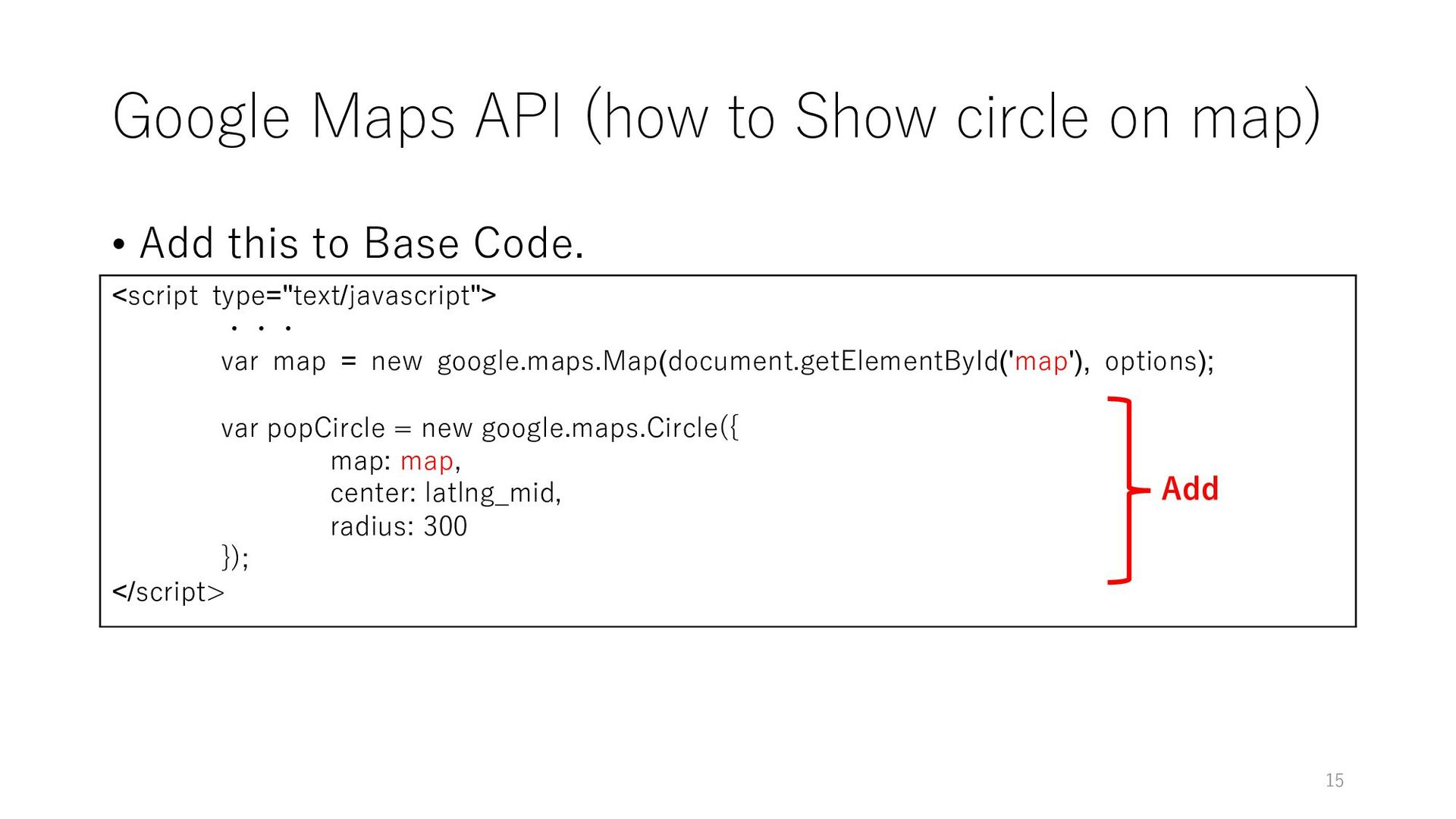 Google Maps API (how to Show circle on map) • A...