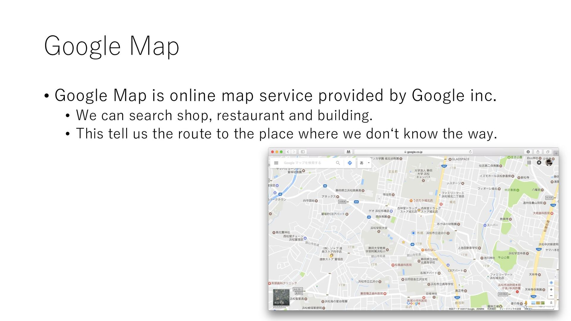 Google Map • Google Map is online map service p...