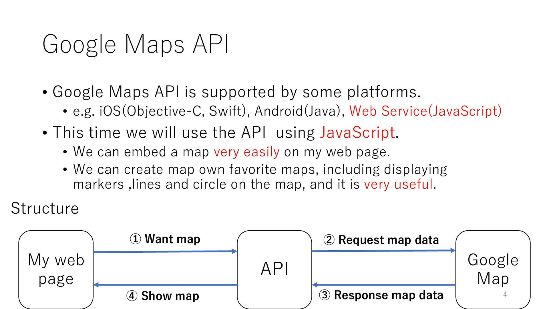 Google Maps API • Google Maps API is supported ...
